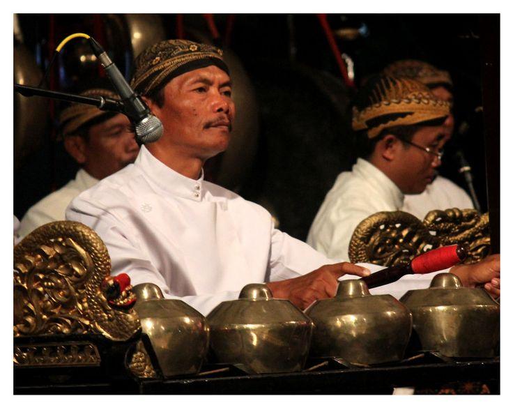 """Javanese """"gamelan"""" player."""