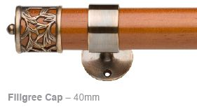 Filigree Cap for 40 or 50mm rods