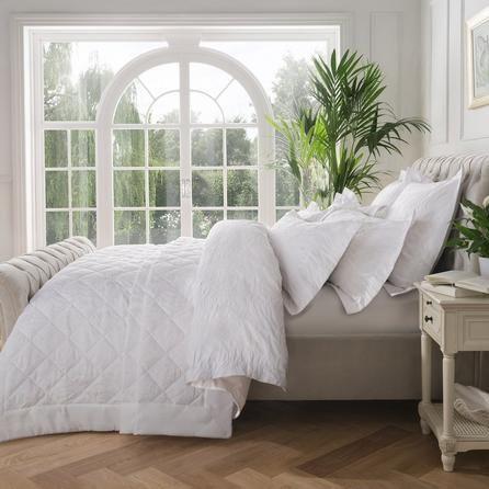 Dorma Fern White Bedspread