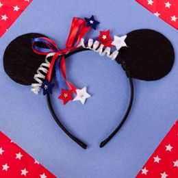 Minnie's 4th of July Headband (I am going to make one for myself and one for my daughter)
