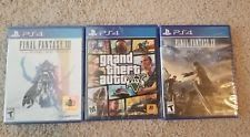 Lot of 3 PS4 Games Grand theft auto 5 Final Fantasy 15 Final Fantasy XII new