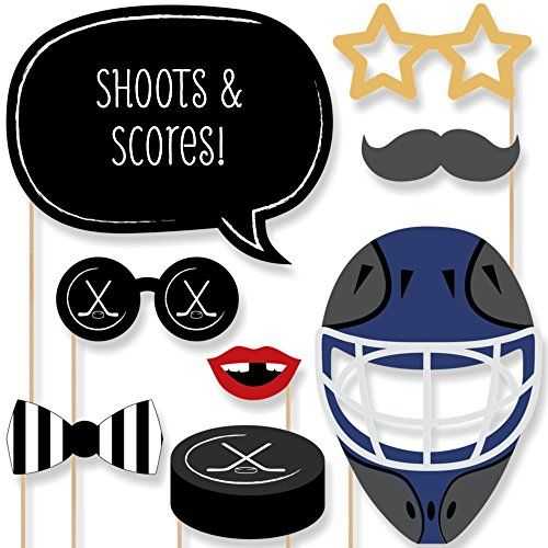 Shoots & Scores - Hockey Photo Booth Props Kit - 20 Count Big Dot of Happiness http://www.amazon.com/dp/B0178AU5S6/ref=cm_sw_r_pi_dp_Q78Nwb1VQ1B94