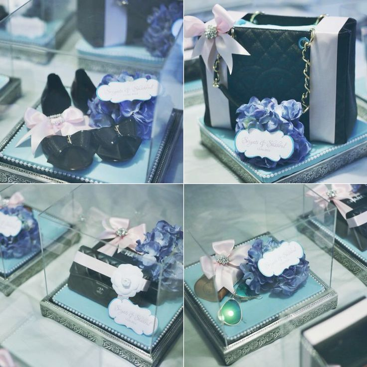 Tiffany Blue & Pink Gift Trays.