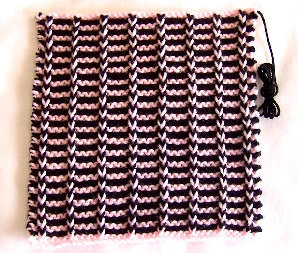 Mosaic Knitting : Gorgeous slip stitch square from wendy http knit a