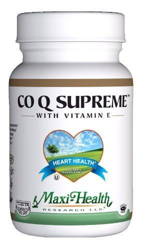 Maxi Co Q Supreme, 100 Mg., 60Maxi Caps by Maxi. $36.88. Co q 10, also known as ubidicarenone, is a powerful antioxidant that protects the body from free radical damage. It has shown great benefits in strengthening the heart muscle and has a positive effect on heart muscle function. Combined with the health benefits of natural vitamin e, it offers you the opportunity to experience optimum cardiovascular health. Co q 10 is used by the body to transform food into e...