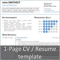 1 page minimalist resumecv template for powerpoint