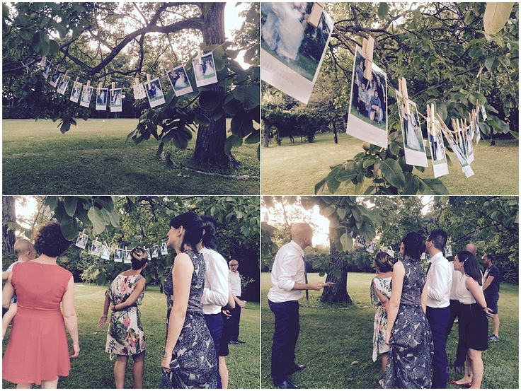 Where do all the Polaroid in a Wedding?