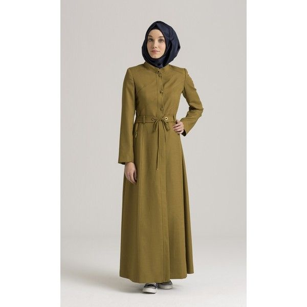 Fall and winter trend new color hijab style from Turkey. Elegant Turkish fashion style maxi dress