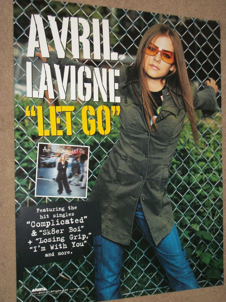 Avril Lavigne / Let Go  2002 Arista Records Double Sided Promo Poster / 16 X 22
