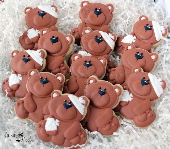 Teddy Bear Get Well Soon Cookies Teddy Bear by Bakinginheels
