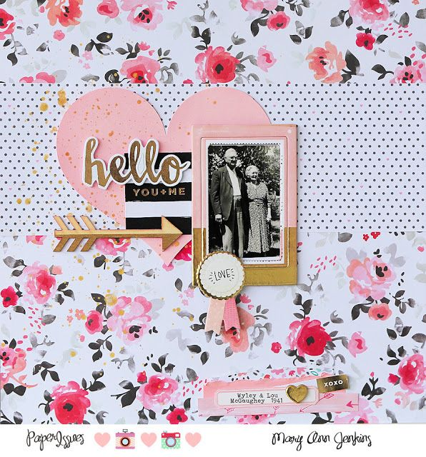 #papercrafting #scrapbook #layout - Paper Issues: Take Five Tuesday! - February Challenge @maryannjenkins