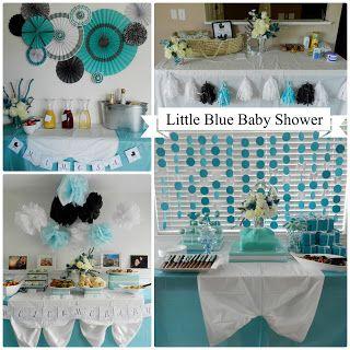 Little Blue Baby Shower #babyshower #tiffanyblue #baby #babyboy