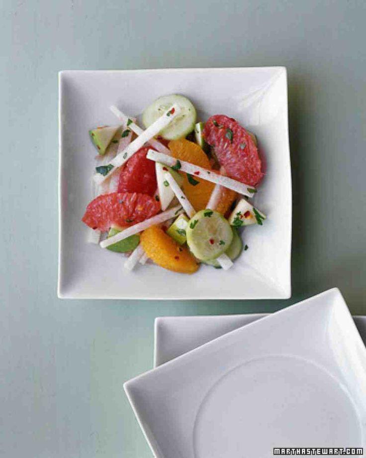 Jicama-Citrus Salad - ?less cayenne? not crushed red pepper