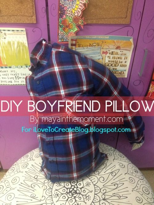 HOW TO: Make a Boyfriend Pillow. Kinda embarrassed to pin but whatever, I want it lol