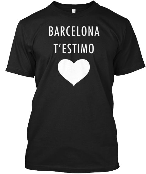 Barcelona I Love You T'estimo T Shirt Black T-Shirt Front