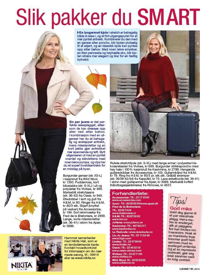 WILD WOOL Cashmere Featured in Hjemmet September 2014 issue www.wildwool.no