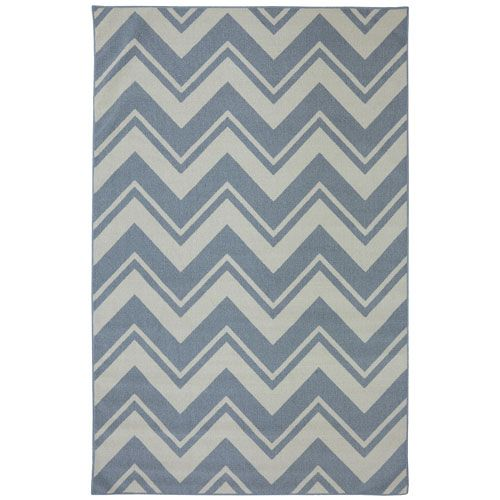 Pool Zig Zag Blue Rectangular: 5 Ft. X 8 Ft. Rug Mohawk Home Indoor/Outdoor Rugs Rugs Home