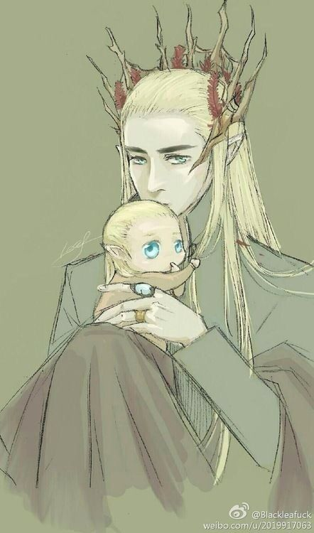 Thranduil & Legolas. This actually makes me want to cry