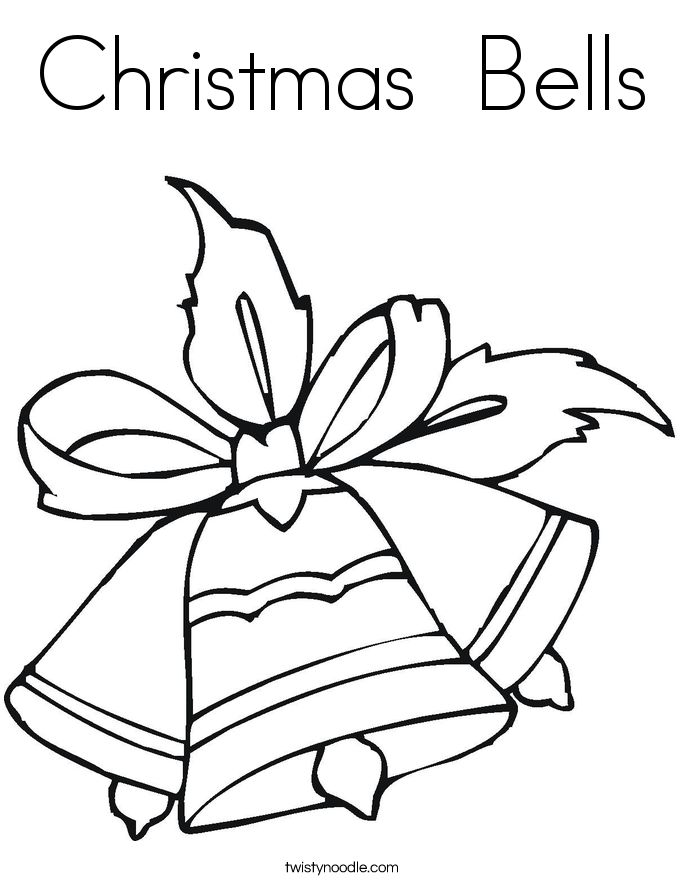 printable christmas bell coloring pages - photo#22