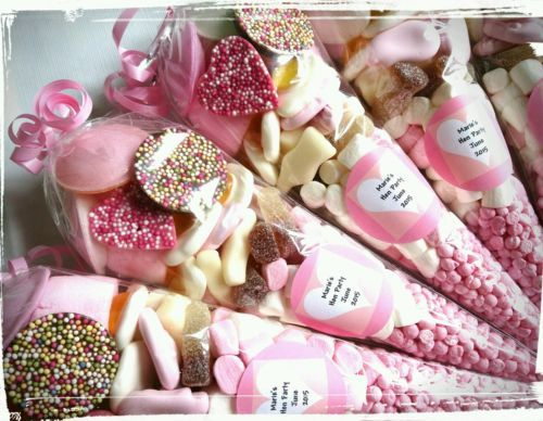 Pre filled large wedding favour hen party sweet cones party bags PERSONALISED in Home, Furniture & DIY, Celebrations & Occasions, Party Supplies | eBay