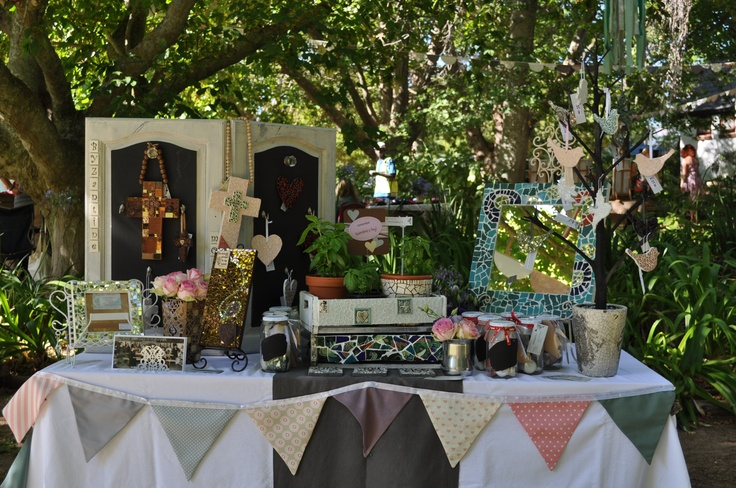 My market stall at Little Stream, Constantia - today.
