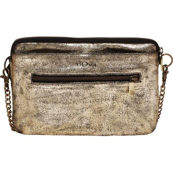 nOva Bags Peoni super smart clutch i guld og sort fra NOVABAGS