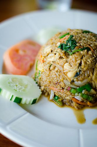 Basil Thai Fried Rice @ Thai Elephant 2