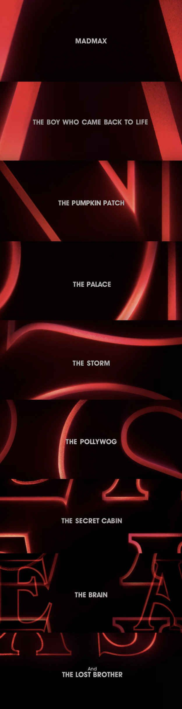 The teaser included what are rumored to be the nine episode titles for the new season.