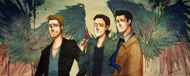 My three favourite angels from Supernatural: Balthazar, Gabriel and Castiel