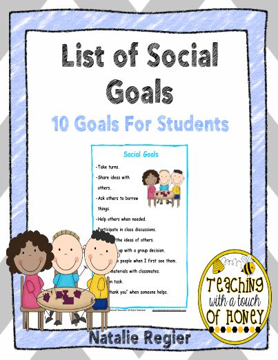 social goals After students have worked through you are a social detective and learned core social thinking vocabulary, they are ready to learn more about self-regulation using.