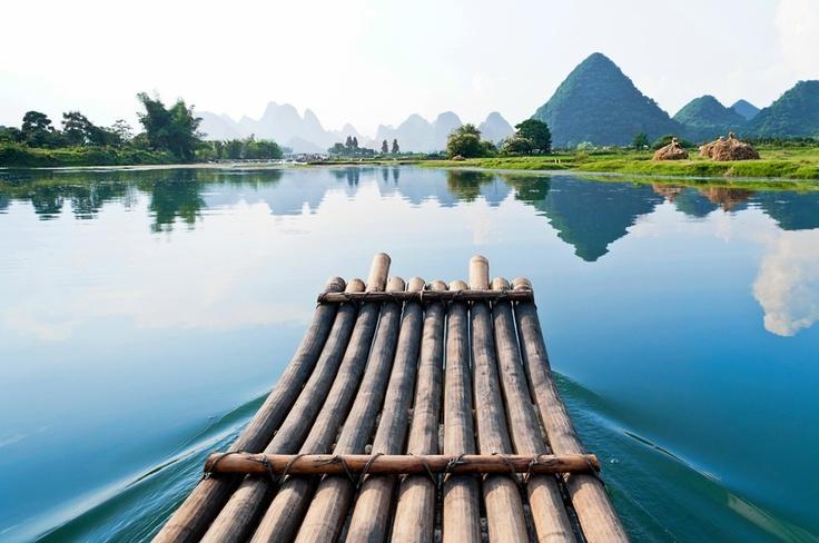 Bamboo Raft, Yangshou Li River, China