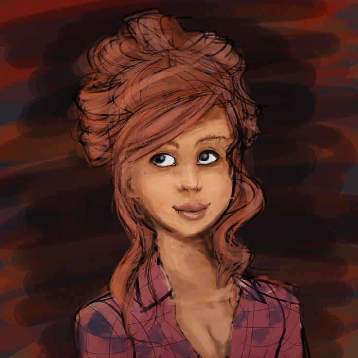 Portrait - Autumn girl by HARuNIS.deviantart.com on @DeviantArt