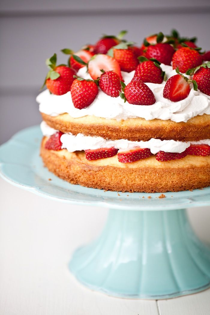 Black Pepper Spongecake with Balsamic Whipped Cream and Strawberries from @tami hardeman