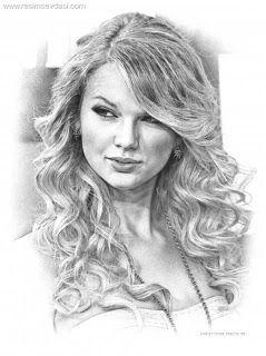 TrendTime ~ ♥: Yabancı ünlüler karakalem çizimleri..~ ♥ taylor swift