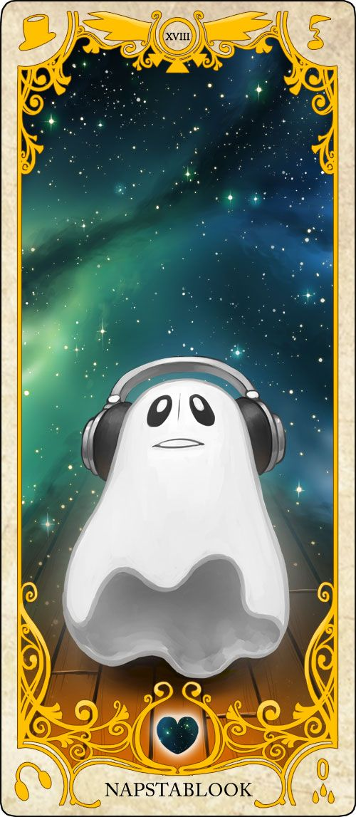 Undertale Tarot Cards: Napstablook