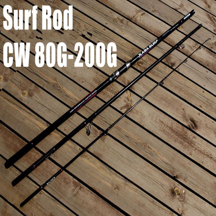 [Visit to Buy] Free Shipping XABA 4.2m 3 Section Surf Casting Rod 80g - 200g Surfcasting Rod Long Casting Fishing Rod #Advertisement