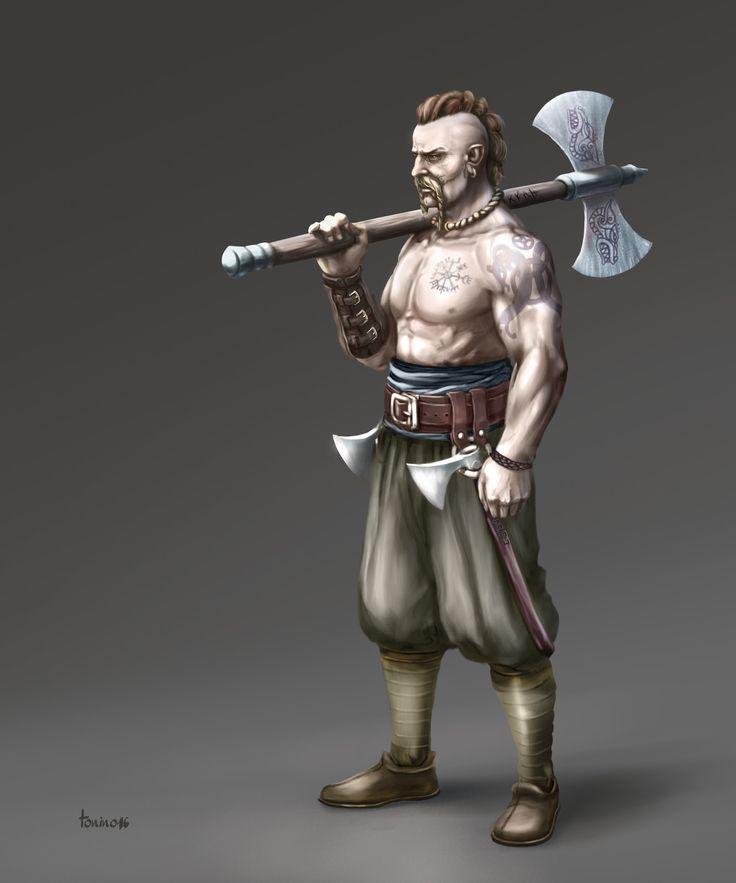 Viking warrior, TONINO ARIAS on ArtStation at https://www.artstation.com/artwork/5ZLYz