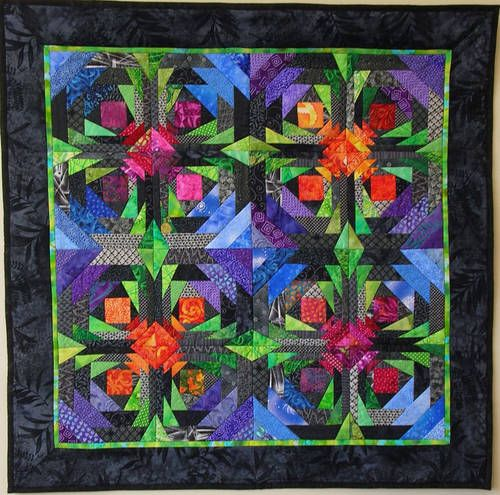 Offset Pineapple Quilt --- This quilt was made using an offset pineapple block from Rich Traditions.
