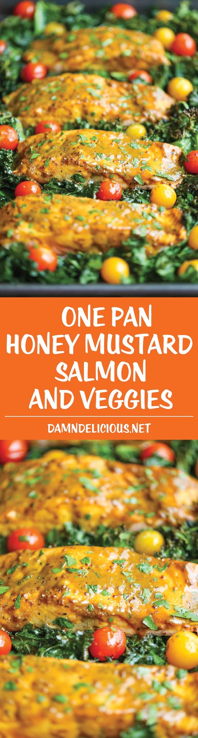 Salmon and Veggies - The easiest, most flavorful honey mustard salmon ...