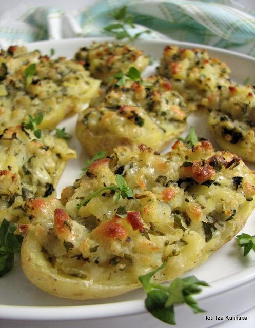Smaczna Pyza: Ziemniaki faszerowane z chwastami - http://smacznapyza.blogspot.com/2013/05/ziemniaki-faszerowane-z-chwastami.html