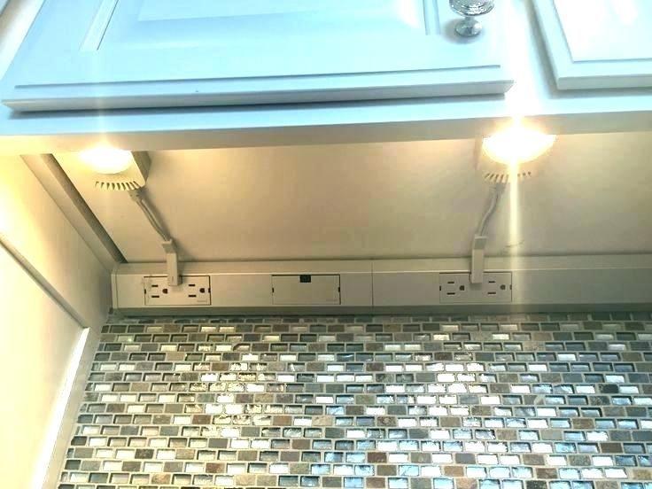 Kitchen Hardwired Under Cabinet, Under Cabinet Receptacle Strips