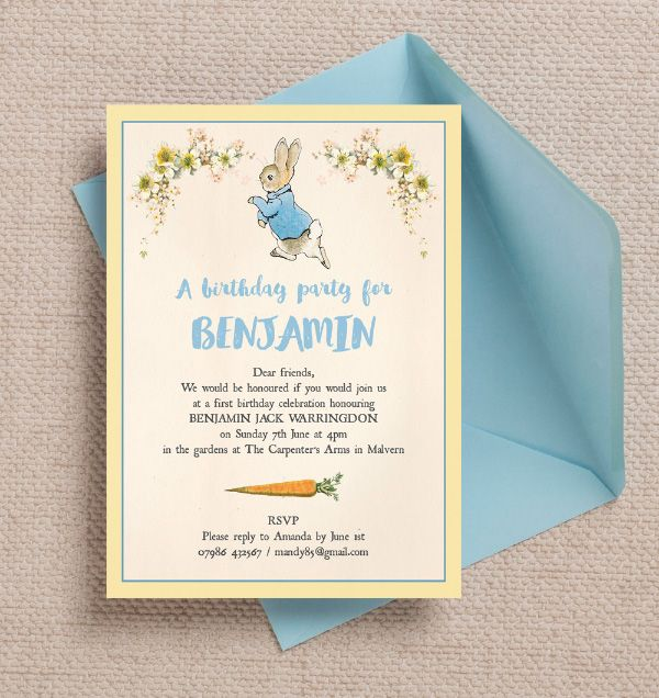 11 best Classic English country garden Beatrix Potter childrens – Order Party Invitations Online