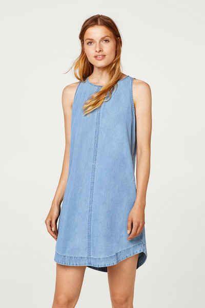 EDC BY ESPRIT Ärmelloses Jeans-Kleid aus 100% Baumwolle   Kleidung ... 644dfcbcb6