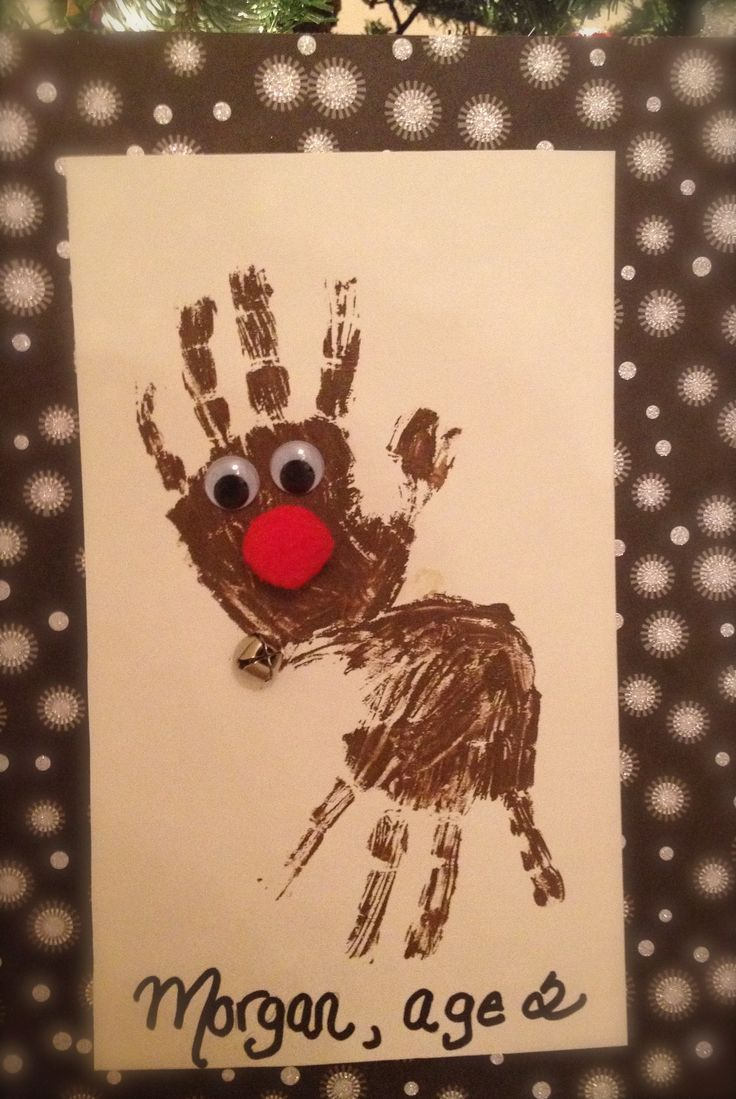 17 best images about handprint art on pinterest for Reindeer christmas card craft