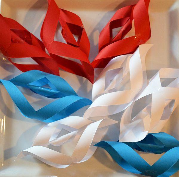 Patriotic Paper Starbursts