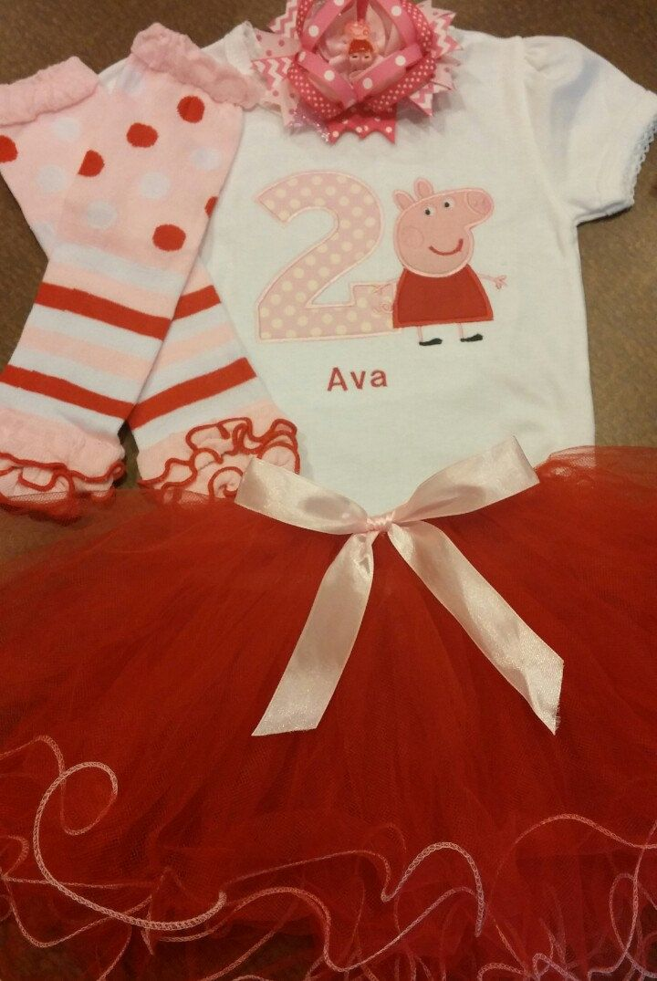 Peppa pig birthday outfit peppa pig outfit peppa by SaraSewtique
