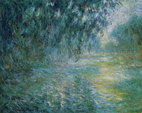 Claude Monet, Morning on the Seine in the Rain on ArtStack #claude-monet #art