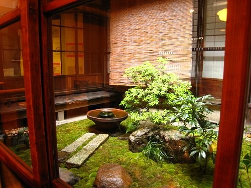 Tsuboniwa garden - tiny courtyard gardens that bring outside into the interior of the house.