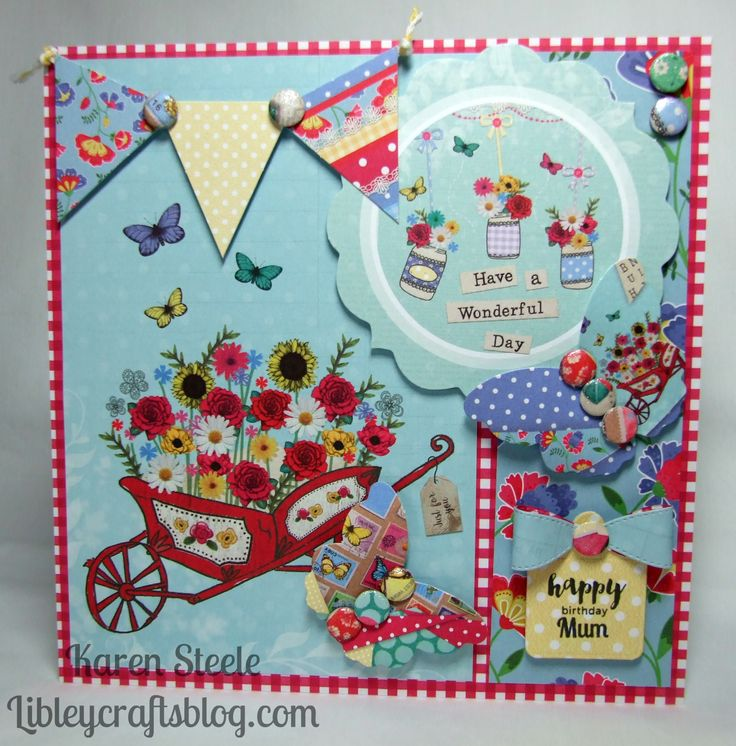 I used Bohemian Dreams from Craftwork Cards to make this card.