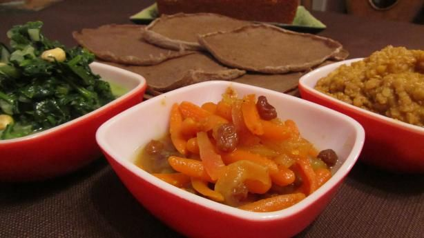 South African - Curried Carrot Salad from Food.com: This recipe is also from the web site Rainbow Nation Connecting South Africa and has been posted here for the ZWT-7 Tour of Africa. Most South African BBQ's always have a number of salads to compliment the meats. This curried carrot salad is one example of the wonderful salads typically served.